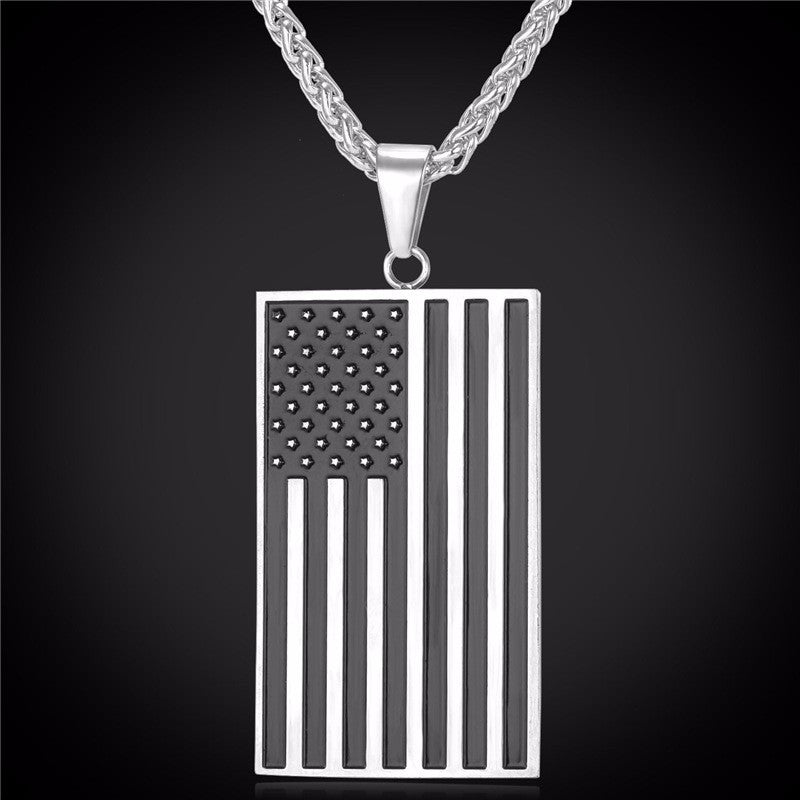 American Flag Necklace - topnotchloot  - 3