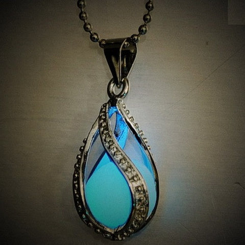 Glow in the Dark Water Drop Necklace - topnotchloot  - 3