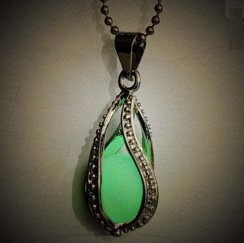 Glow in the Dark Water Drop Necklace - topnotchloot  - 2