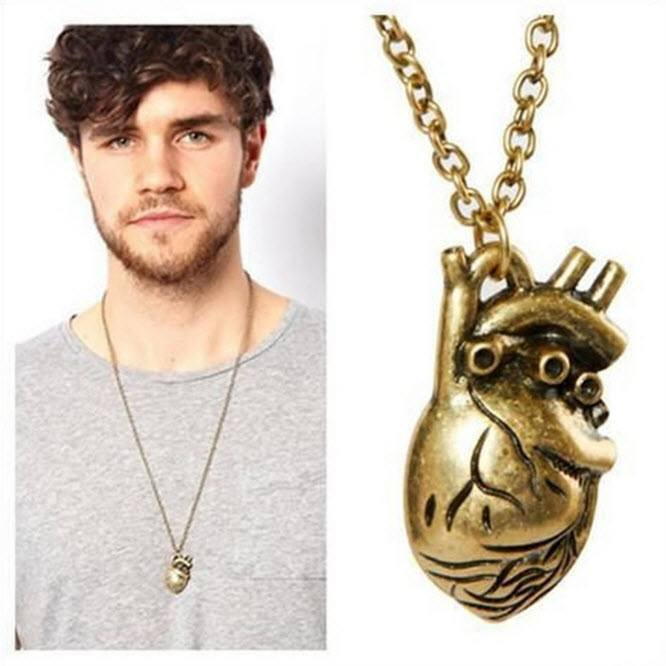 Anatomical Human Heart Necklace - topnotchloot  - 1
