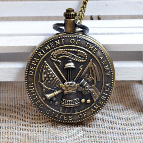 Bronze Army Pocket Watch - topnotchloot  - 1
