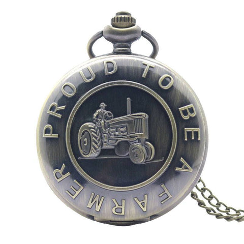 Bronze Farming Pocket Watch - topnotchloot  - 1