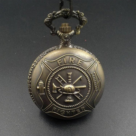 Bronze Fire Fighter Pocket Watch - topnotchloot  - 1