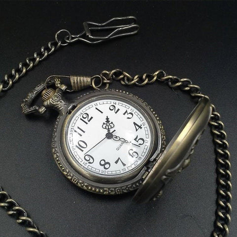 Bronze Fire Fighter Pocket Watch - topnotchloot  - 3