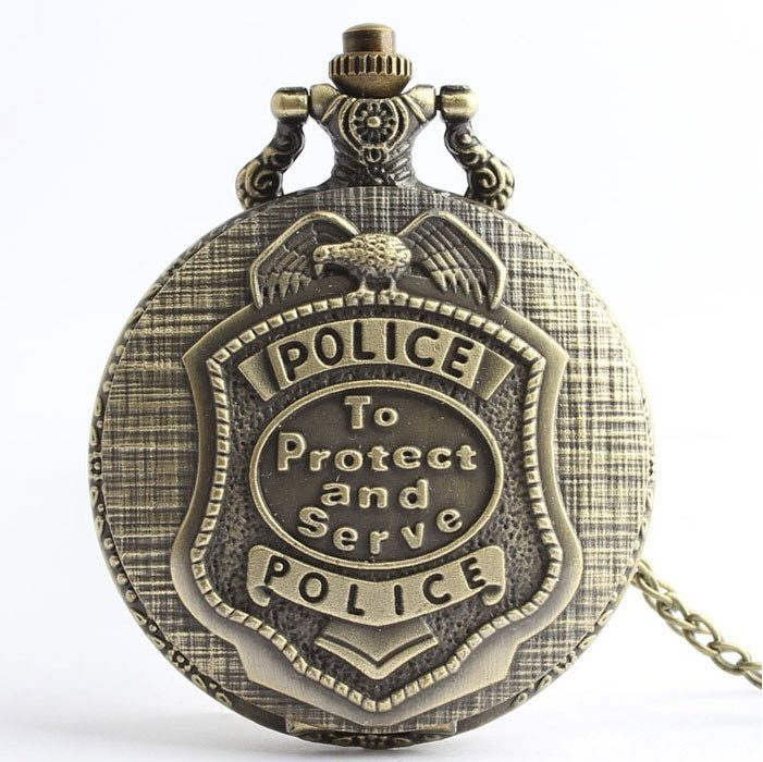Bronze Police Officer Pocket Watch - topnotchloot  - 1