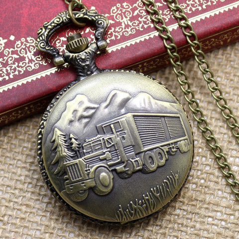 Bronze Trucking Pocket Watch - topnotchloot  - 1
