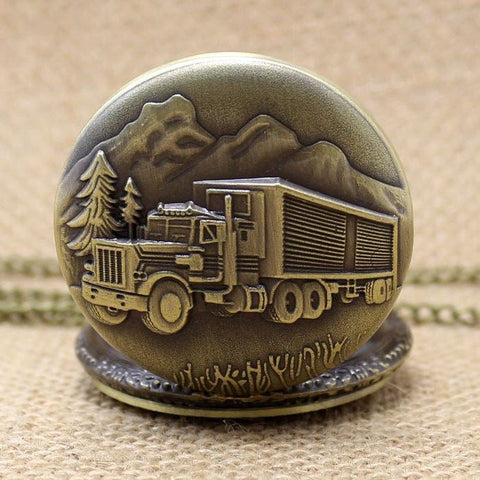 Bronze Trucking Pocket Watch - topnotchloot  - 3