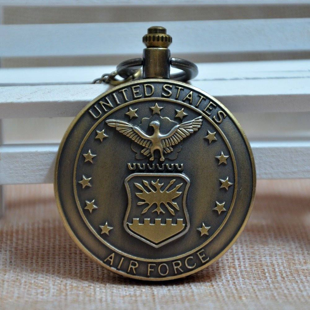 Bronze United States Air Force Pocket Watch - topnotchloot  - 5