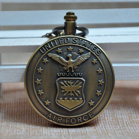 Bronze United States Air Force Pocket Watch