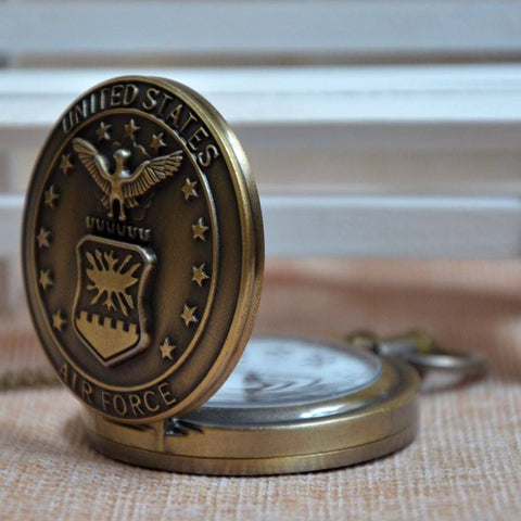 Bronze United States Air Force Pocket Watch - topnotchloot  - 2