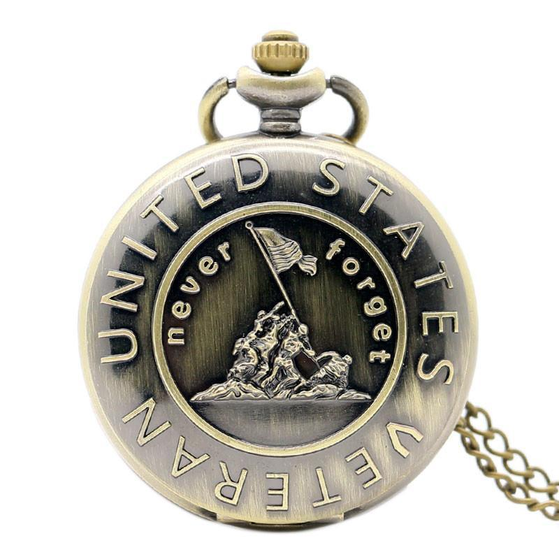 Bronze Veterans Pocket Watch - topnotchloot  - 1
