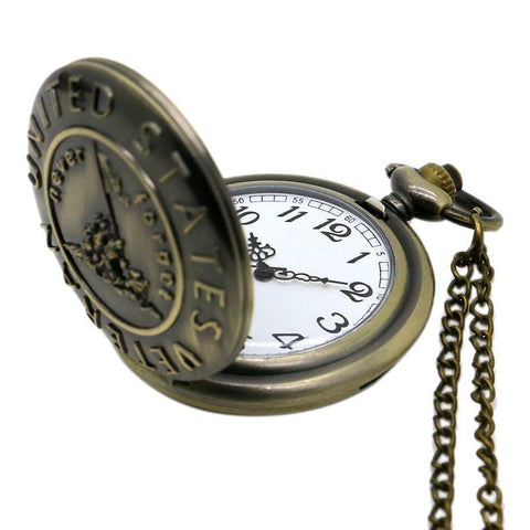 Bronze Veterans Pocket Watch - topnotchloot  - 3