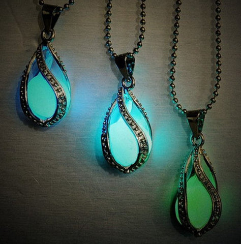 Glow in the Dark Water Drop Necklace - topnotchloot  - 1