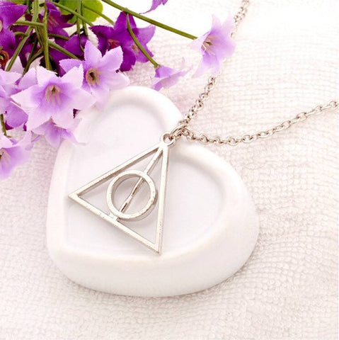 Harry Potter Deathly Hallows Necklace - topnotchloot  - 4