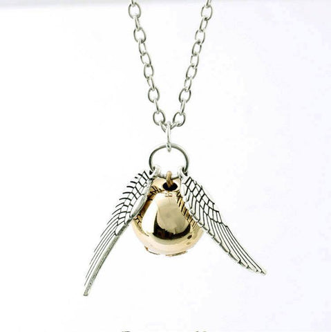 Harry Potter Quidditch Snitch Necklace - topnotchloot  - 1