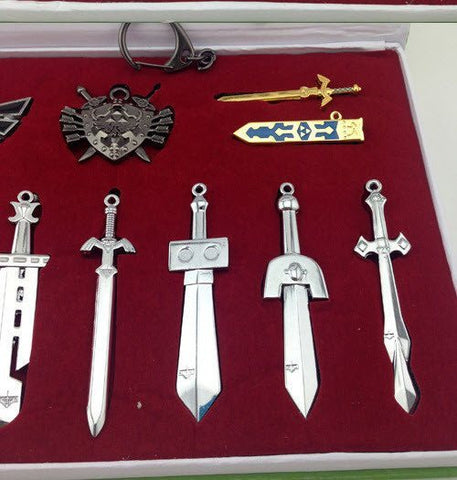 Legend of Zelda Sword and Shield Necklace Set - topnotchloot  - 2