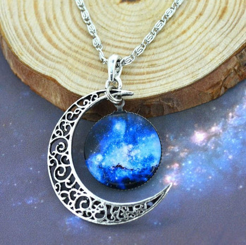 Silver Moon Galaxy Necklace - topnotchloot  - 2