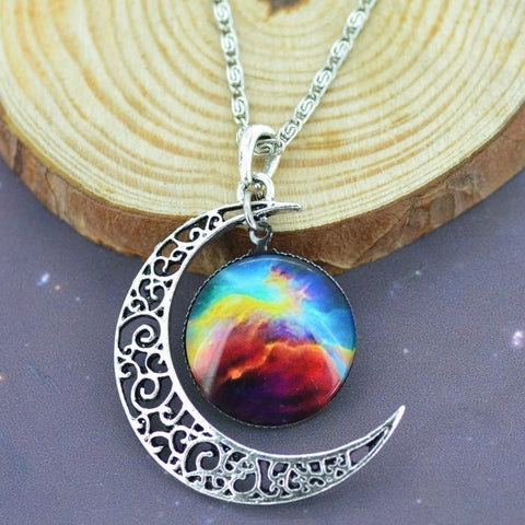 Silver Moon Galaxy Necklace - topnotchloot  - 3