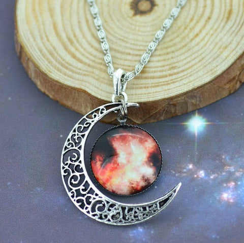 Silver Moon Galaxy Necklace - topnotchloot  - 5
