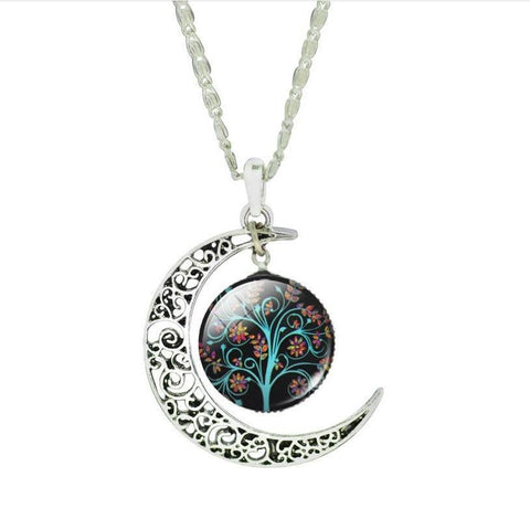 Silver Moon Life Tree Necklace - topnotchloot  - 2