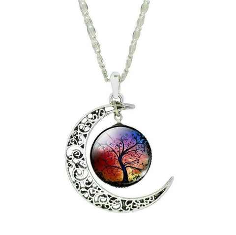 Silver Moon Life Tree Necklace - topnotchloot  - 5