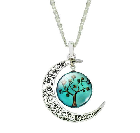 Silver Moon Life Tree Necklace - topnotchloot  - 6