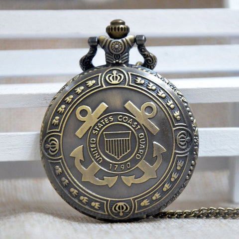 Bronze Coast Guard Pocket Watch