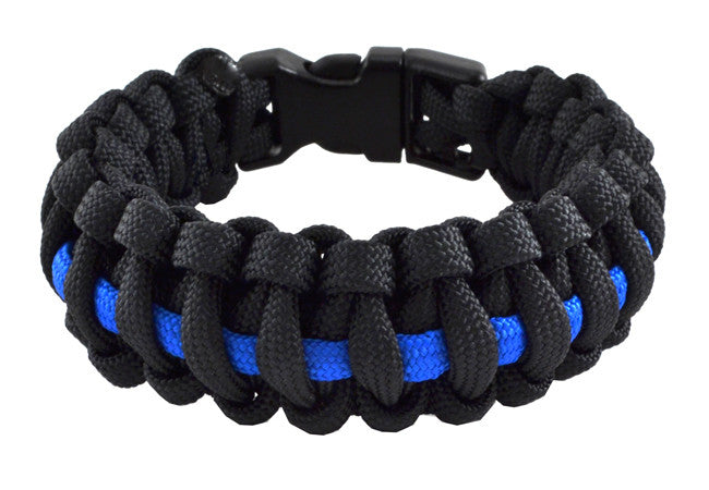 Thin Blue Line Police Paracord Wristband - topnotchloot