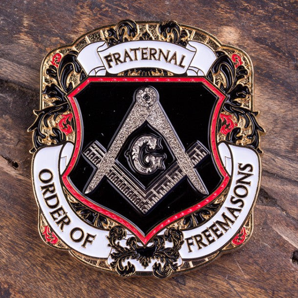 Freemason Shield Challenge Coin - topnotchloot  - 1