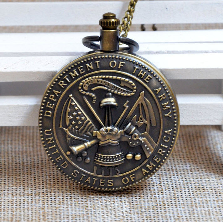 Bronze Military Branch Pocket Watch - topnotchloot  - 1
