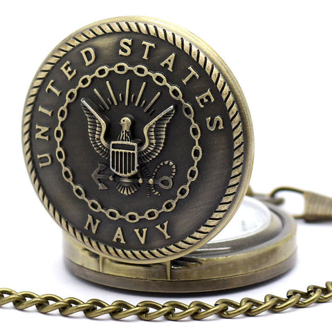 Bronze Military Branch Pocket Watch - topnotchloot  - 2