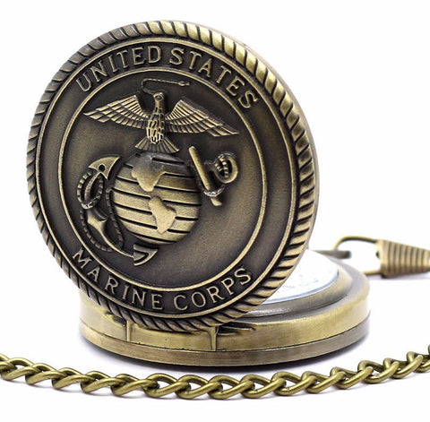 Bronze Military Branch Pocket Watch - topnotchloot  - 3