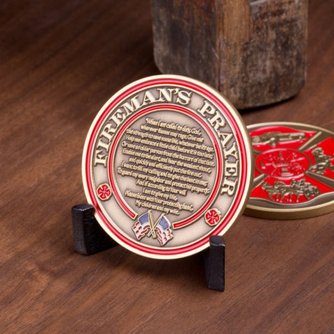 Fireman's Prayer Challenge Coin