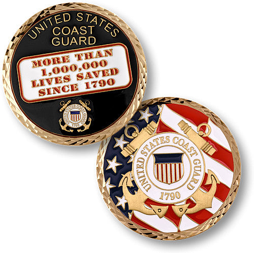 Coast Guard Million Lives Saved Challenge Coin - topnotchloot