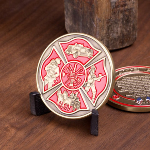 Fireman's Prayer Challenge Coin - topnotchloot  - 2