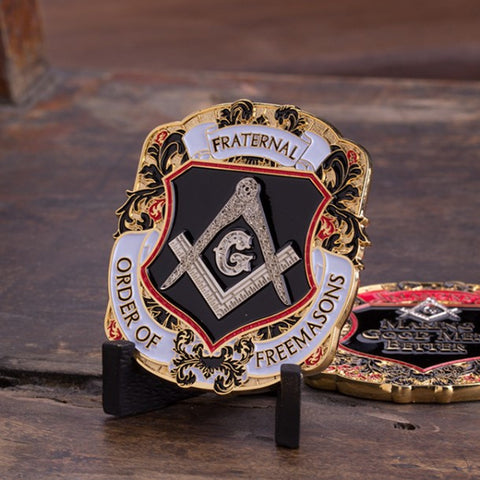Freemason Shield Challenge Coin - topnotchloot  - 3