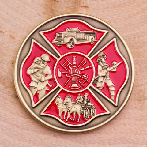 Fireman's Prayer Challenge Coin - topnotchloot  - 3