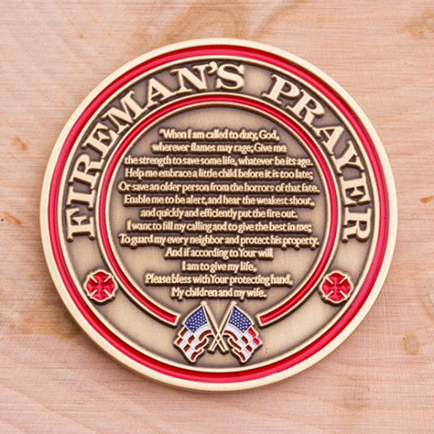 Fireman's Prayer Challenge Coin - topnotchloot  - 4