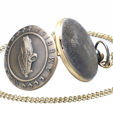 Bronze Mustang Pocket Watch - topnotchloot  - 2
