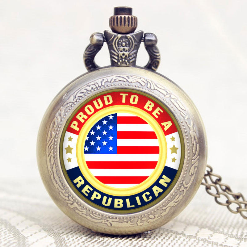 Proud Republican Pocket Watch - topnotchloot