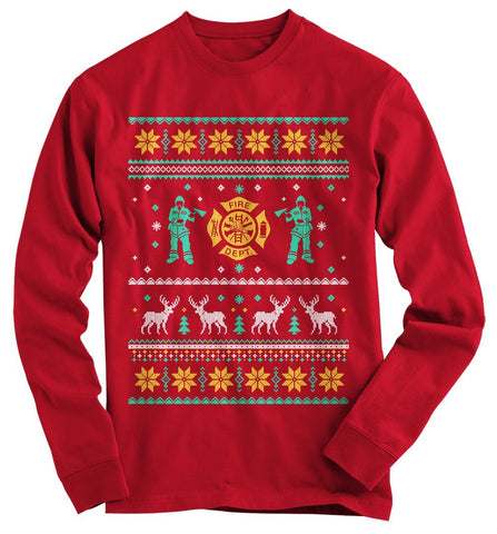 Fire Fighter Ugly Christmas Sweater - topnotchloot  - 2