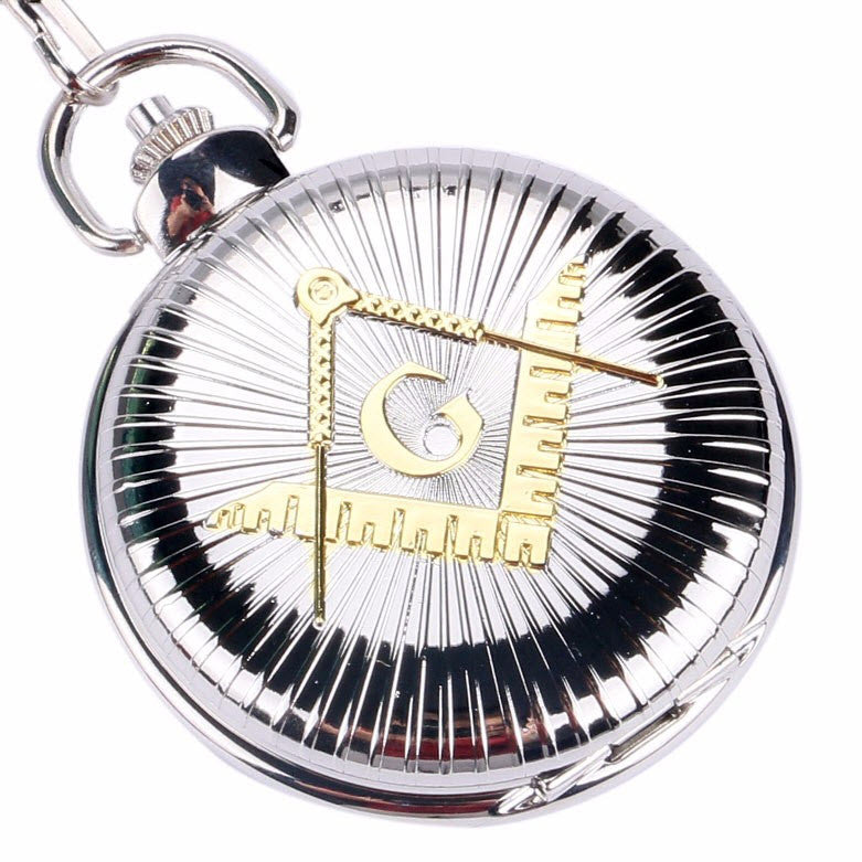 Freemasons Silver Pocket Watch - topnotchloot  - 1