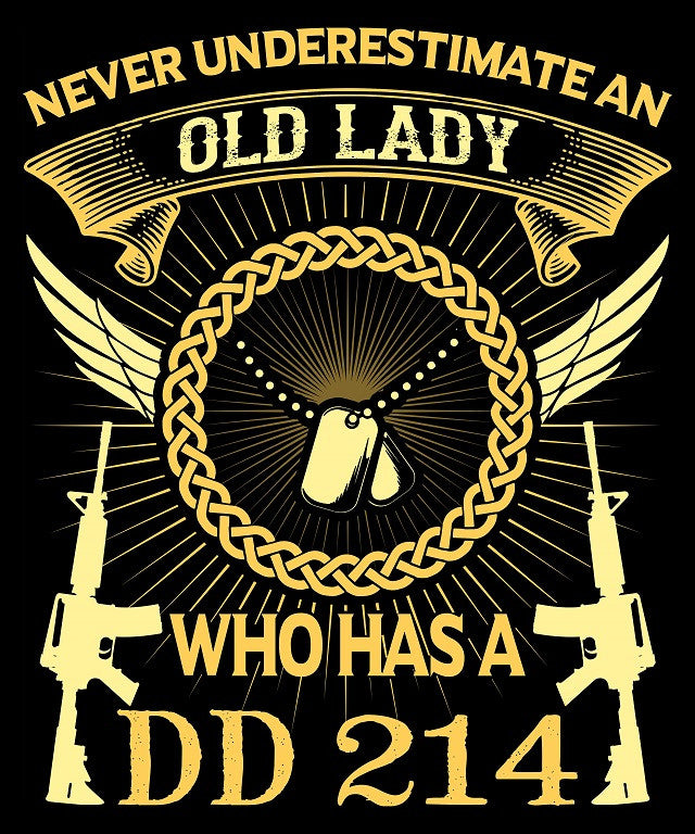 "Old Lady DD214 Vinyl Decal Sticker (5"" tall) - topnotchloot  - 1"