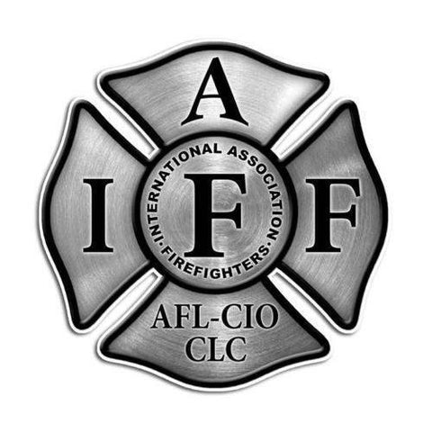 Maltese Cross IAFF Firefighter Sticker