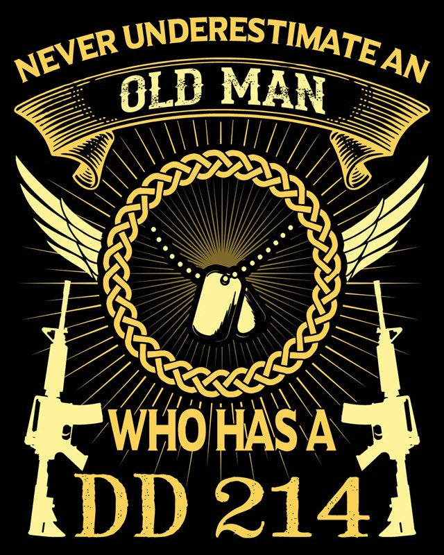 "Old Man DD214 Vinyl Decal Sticker (5"" tall) - topnotchloot  - 1"
