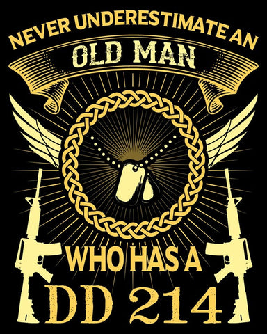 "Old Man DD214 Vinyl Decal Sticker (5"" tall)"