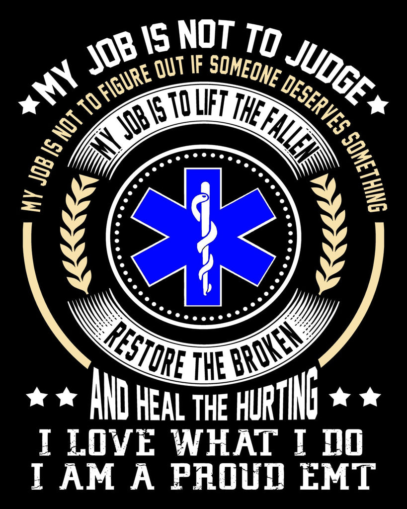 "Proud EMT Vinyl Decal Sticker (5"" tall) - topnotchloot  - 1"