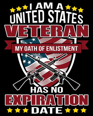 "Oath of Enlistment Vinyl Decal Sticker (5"" tall)"
