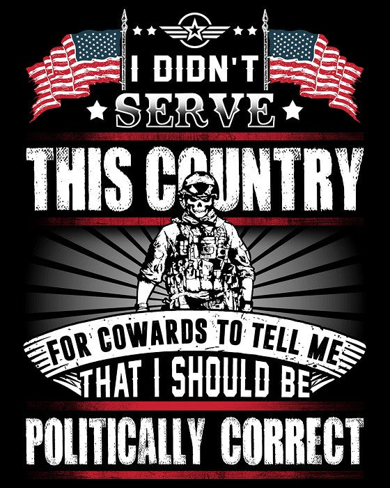 "Politically Incorrect Veteran Vinyl Decal Sticker (5"" tall) - topnotchloot  - 1"
