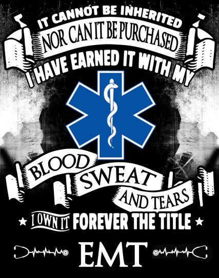 """Forever the Title EMT"" Vinyl Decal Sticker (5"" tall) - topnotchloot  - 1"